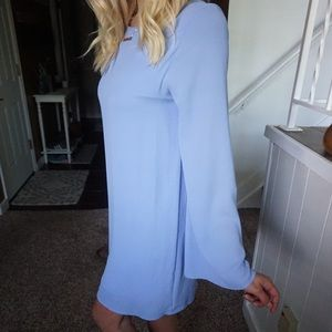 Everly size small long belle sleeves in light blue